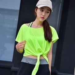 FAYE - Short-Sleeve Tie Waist Sport  T-Shirt