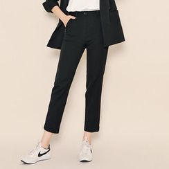 HOTPING - Pocket-Side Tapered Dress Pants
