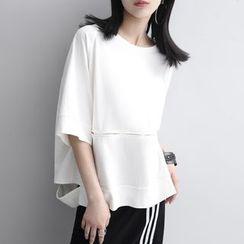 Sonne - Dolman-Sleeved Ripped T-Shirt