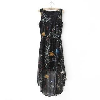 LULUS - Dip-Back Galaxy-Print Dress