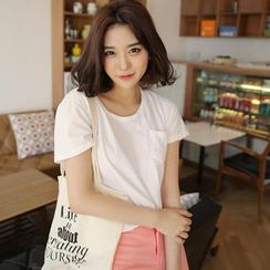 Envy Look - Cotton Scoop-Neck T-Shirt