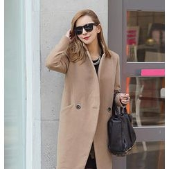 REDOPIN - Double-Breasted Wrap Coat