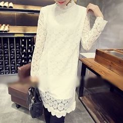 Athena - Long-Sleeve Lace Dress