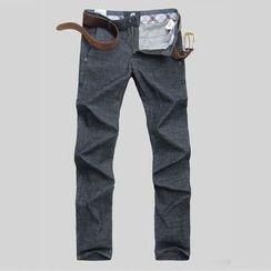 Ekinbrown - Plain Slim Fit Pants