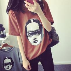 Century Girl - 短袖印字長款T恤