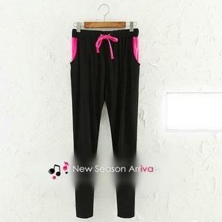 JVL - Contrast-Color Drawstring Sweatpants