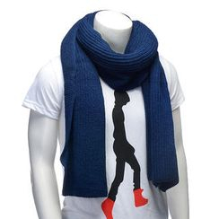 BESTshop - Plain Knit Scarf