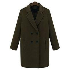 FURIFS - Woolen Lapel Coat