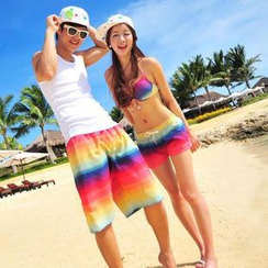 Sunset Hours - Women Swim Shorts/ Bikini/ Cover-Up/ Men Swim Shorts