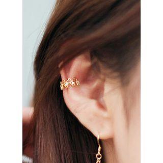 kitsch island - Heart Filigree Ear Cuff
