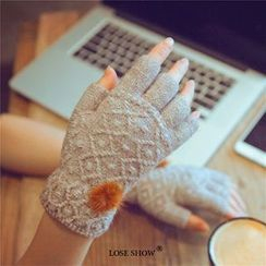 Lose Show - Cashemere Fingerless Knit Gloves