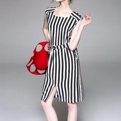 Alaroo - Pinstriped Sleeveless Dress