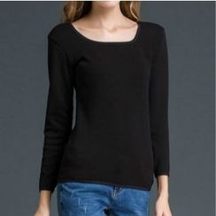 camikiss - Long-Sleeve Fleece Lined Top
