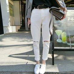 Kojasmine - Slashed Skinny Jeans
