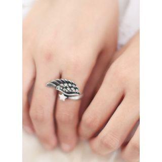 kitsch island - Wing Rhinestone Ring