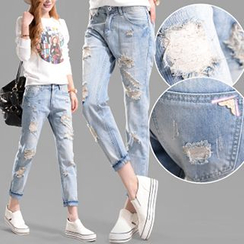 Shimi - Distressed Jeans