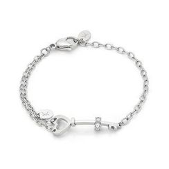 Kenny & co. - Heart Shaped Key with Crystal Steel Bracelet