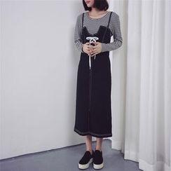 Kojasmine - 牛仔布背带裙