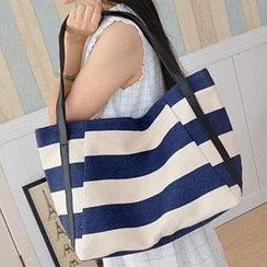 Aoba - Stripe Shopper Bag