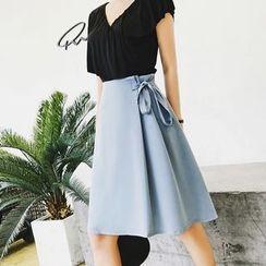 Jack Grace - Tie-Waist A-Line Skirt