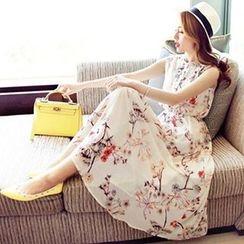lilygirl - Floral Print Chiffon Sundress