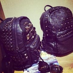 DreamyShow - Studded Faux Leather Backpack
