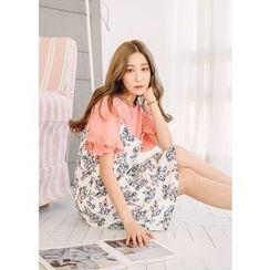 J-ANN - Spaghetti-Strap Floral-Pattern Dress