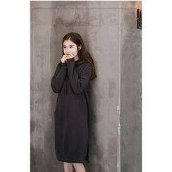 Dream Girl - Long-Sleeve Hooded Pullover Dress