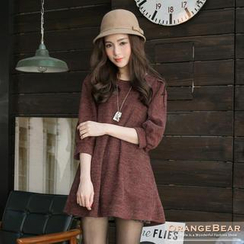OrangeBear - Puffed Elbow Sleeve Knit Tunic