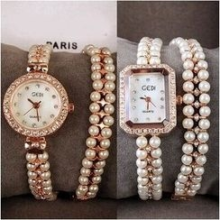 Nanazi Jewelry - Faux Pearl Bracelet Watch