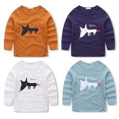 JAKids - Kids Fox Print Long Sleeve T-Shirt