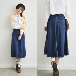 Sienne - Midi Denim Skirt