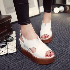 Kireina - Wedge Slingback Sandals