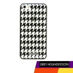Vlashor - 灰色千鸟格iPhone5电话手机壳