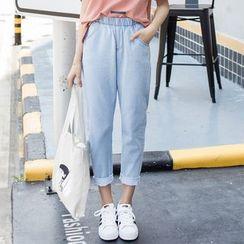 Denimot - 束腰直筒牛仔裤