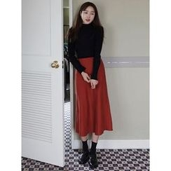 maybe-baby - Flare Midi Skirt