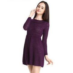 O.SA - Open-Knit Dress