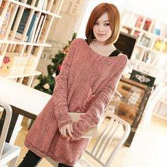 Tokyo Fashion - Distressed Sweater Dress