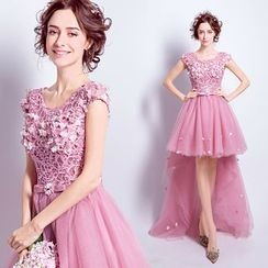 Angel Bridal - Lace Prom Dress