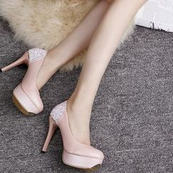 Charming Kicks - 閃閃後跟高跟鞋