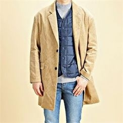 THE COVER - Single-Breasted Corduroy Coat