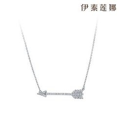 Italina - Rhinestone Arrow Necklace