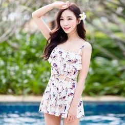 Beach Date - Printed Swim Dress