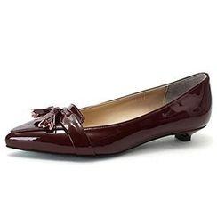 MODELSIS - Tassel-Trim Flat Shoes
