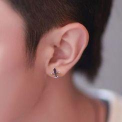 Andante - Airplane Stud Earring