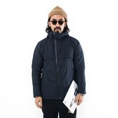 YIDESIMPLE - Asymmetric-Zip Hooded Jacket