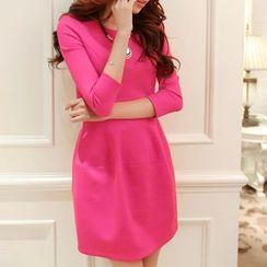 Fashion Street - 3/4-Sleeve Dress