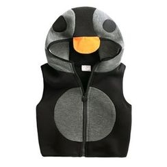 lalalove - Kids Penguin Hooded Vest