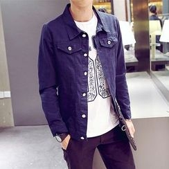 SICRIT - Stand Collar Buttoned Jacket