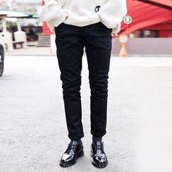 TOMONARI - Brushed-Fleece Lined Chino Pants